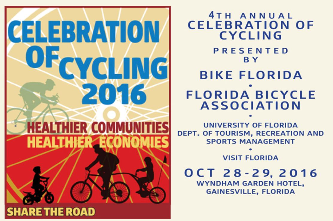 Advertisement for the 4th annual Celebration of Cycling, Share the Road