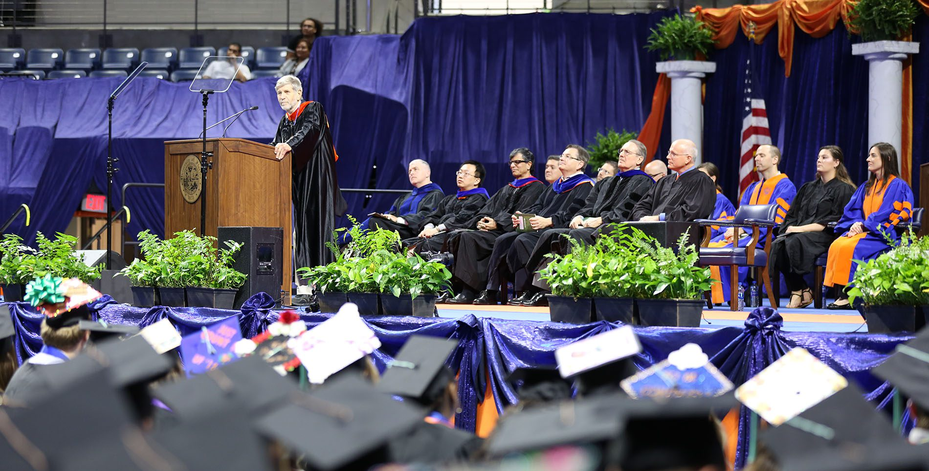 Nathan Collier Speaking at The University of Florida graduation ceremony