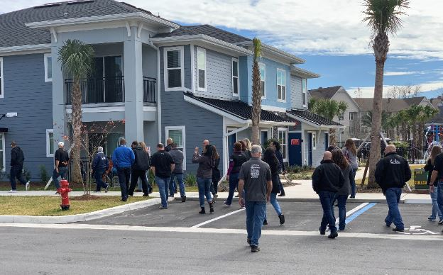 Collier employees tour the newly constructed Canterbury Luxury Apartments in Ocala, Fl.