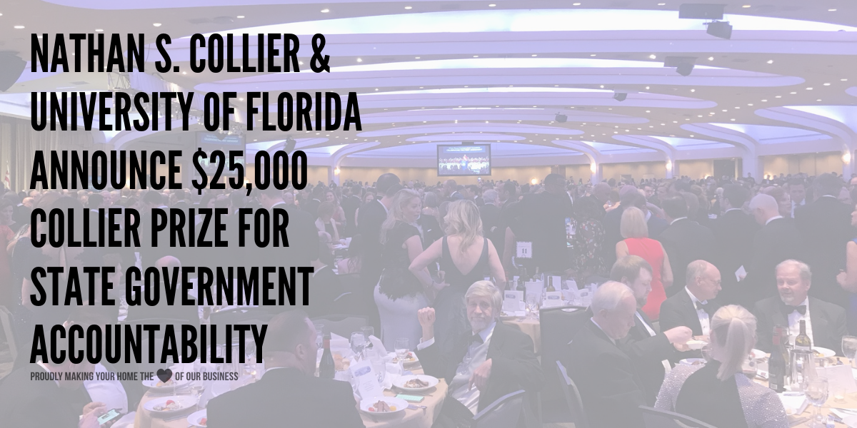 $25,000 Collier Prize for State Government Accountability