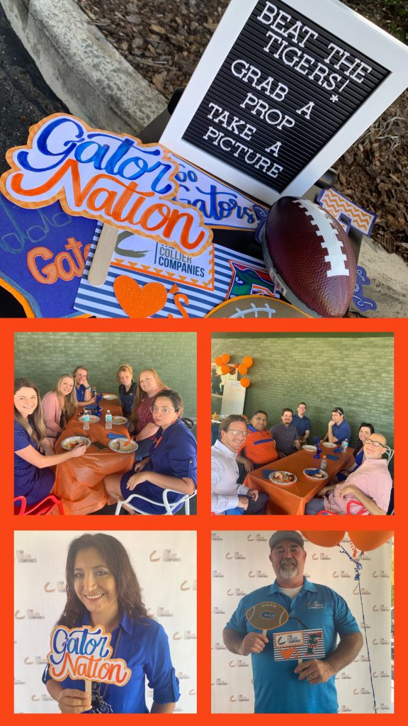Team Members enjoy the company BBQ Luncheon collage