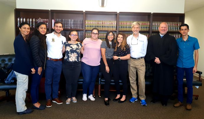 Students meet with Nathan S. Collier at UF Law