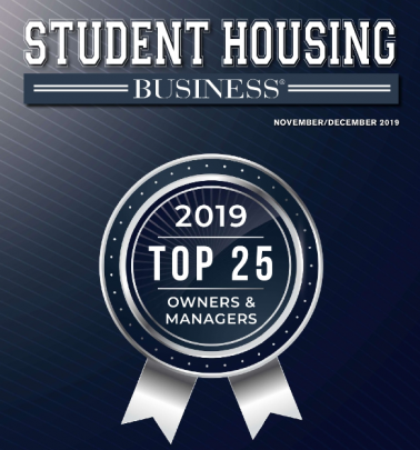 The cover of Student Housing Business is shown