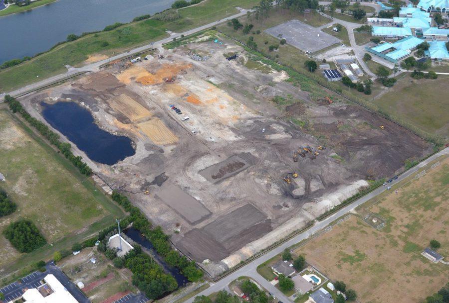 An aerial shot of Port Orange community in development